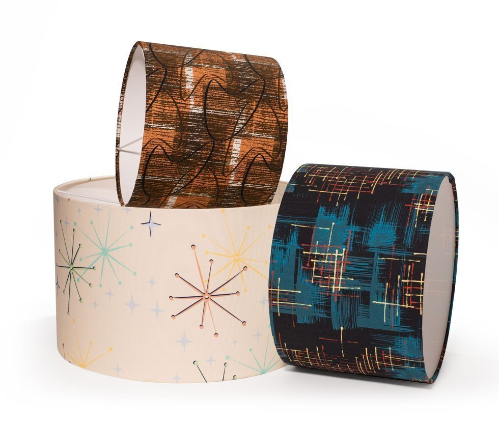 contemporary midcentury lampshades