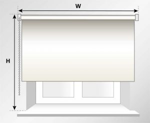 how to measure a window roller blind