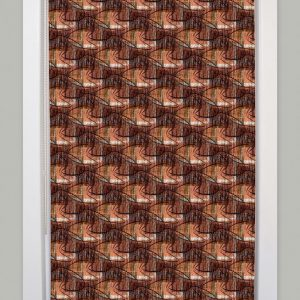 60s retro contemporary roller blind