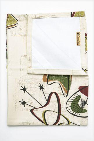 1950's retro tea towel boomerang