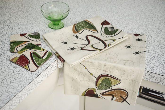 1950's retro tea towel