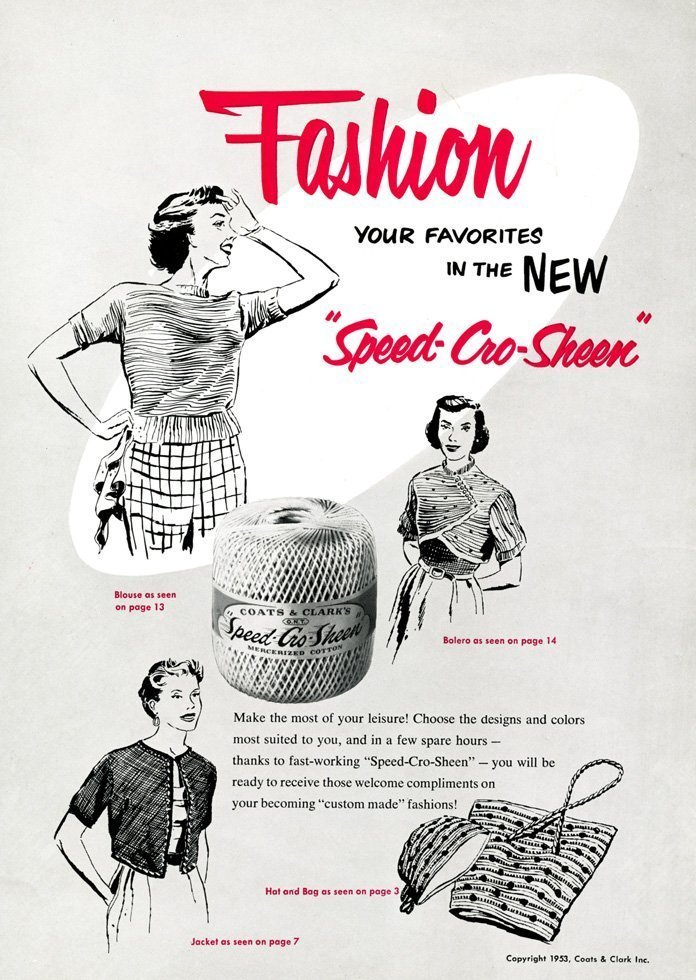 50s crochet cotton advert