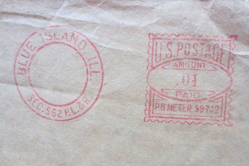 Vintage US postal stamp