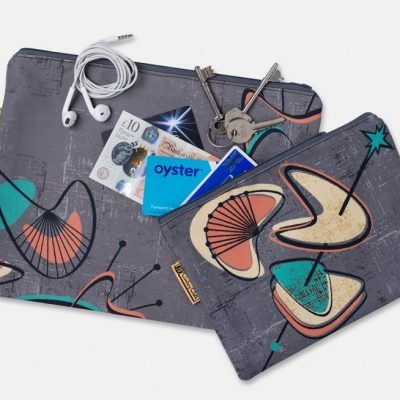 set of travel pouches