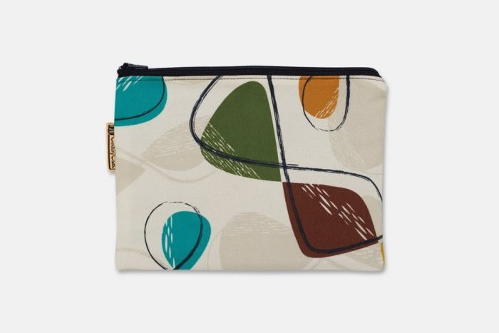 mid century style cosmetic bag