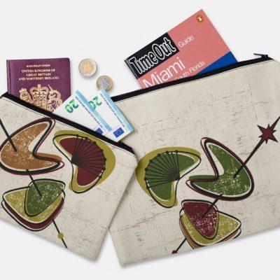set of multi purpose zipped pouches