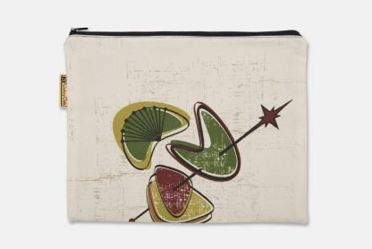 mid century boomerang pouch