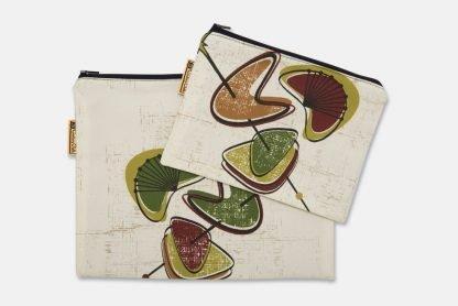retro 50s zipped pouch bags