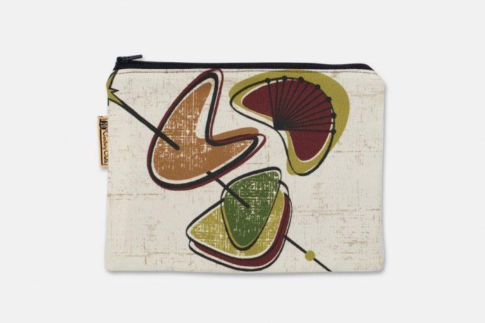 boomerang design zip pouch