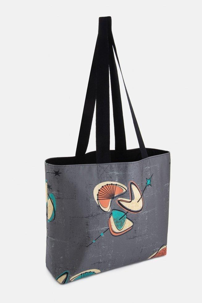 mid century grey overnight bag