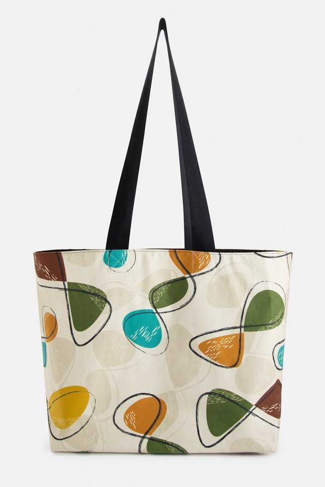 Stylish mid century shopper bag