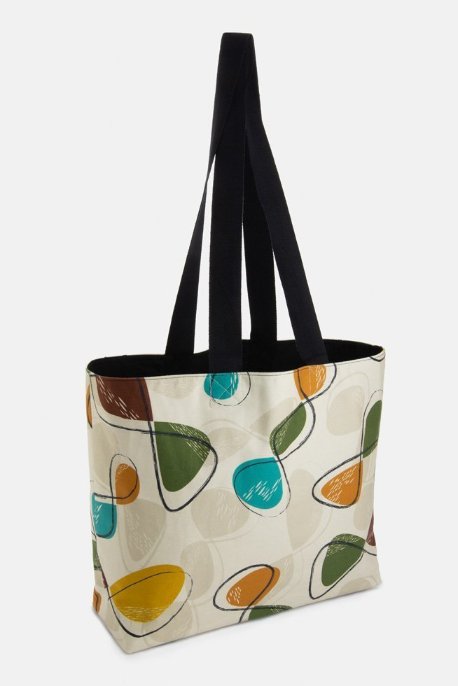 Mid century style market bag