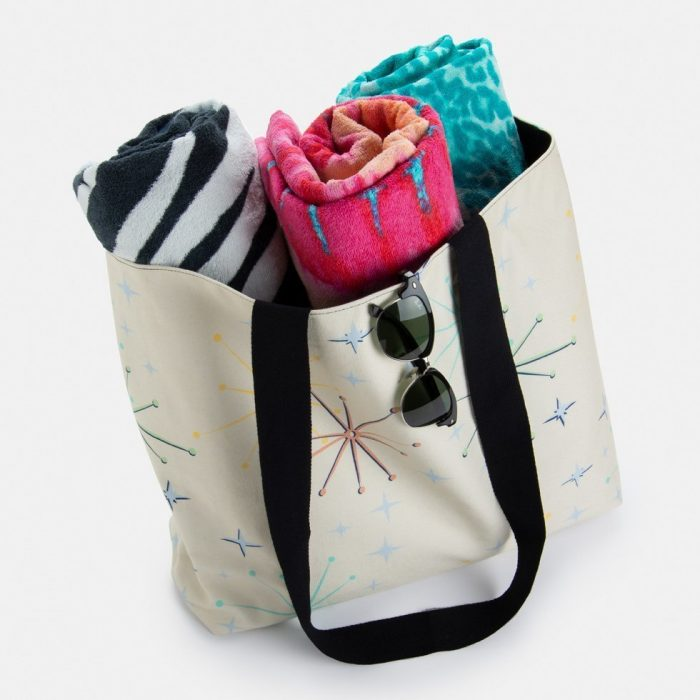 mid century style beach bag