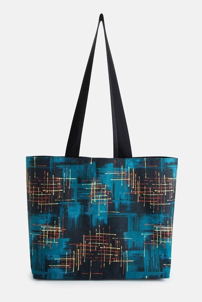 mid century dark teal shoulder bag