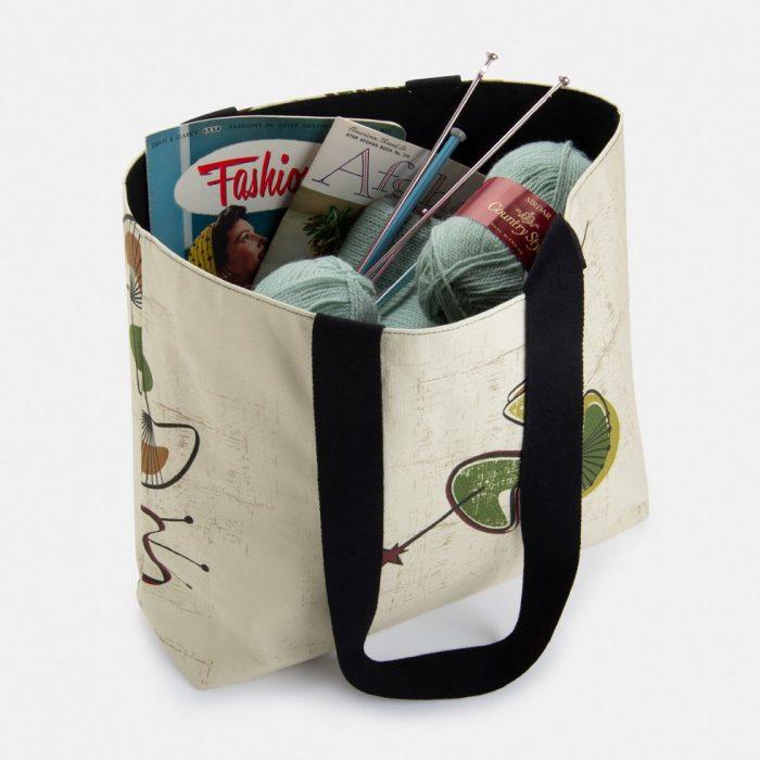 mid century modern boomerang design bag