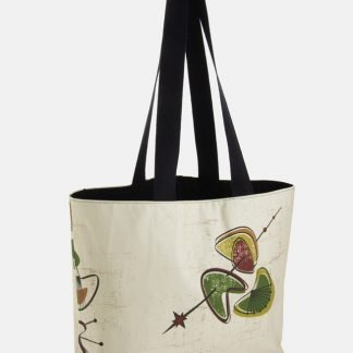 retro design tote bag