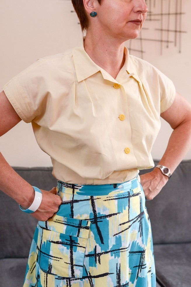 McCalls 1950s blouse pattern