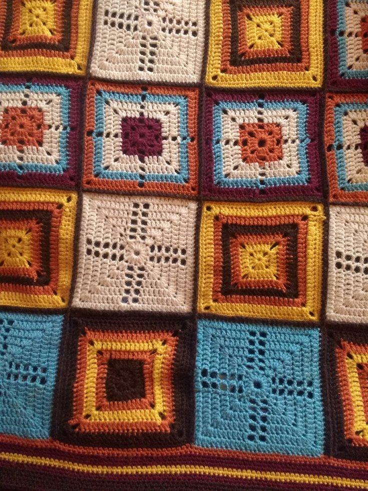 vintage crocheted wool