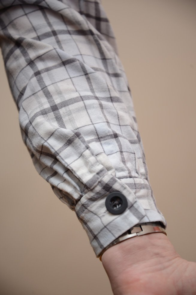 Cuff of home made vintage shirt