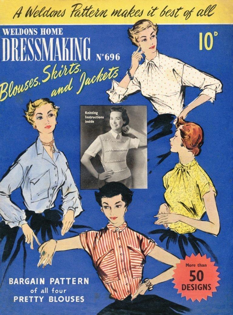 1950s dressmaking magazine