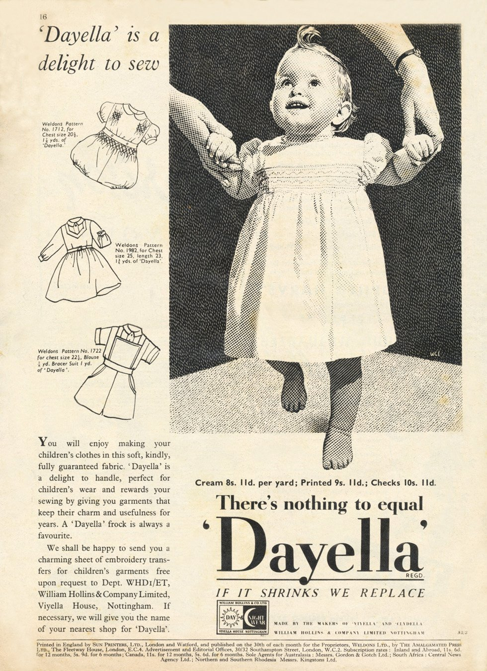 1950s sewing advert