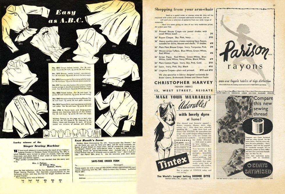 vintage sewing magazine