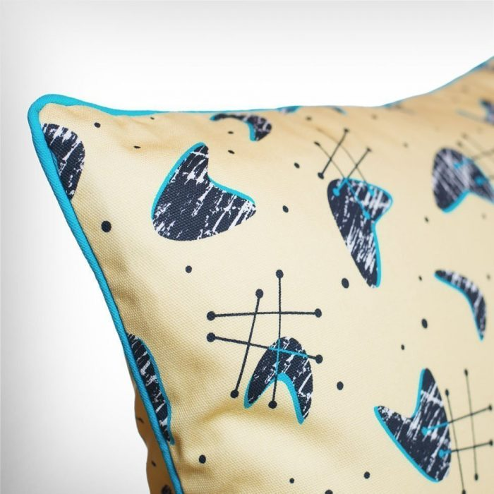 atomic blonde retro atomic 50s cushion