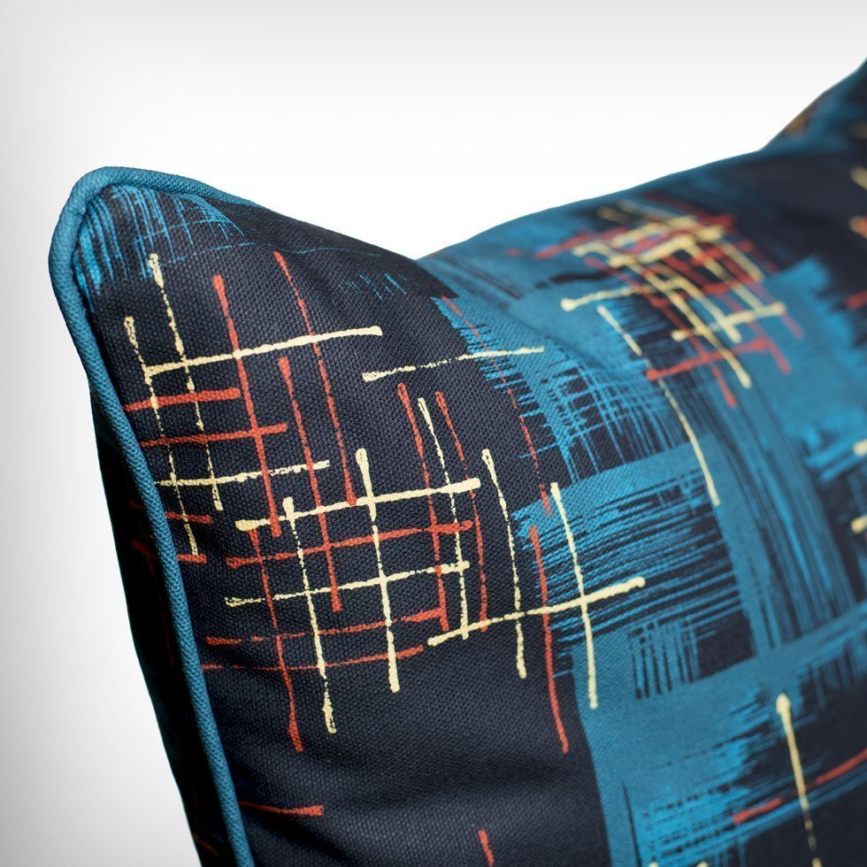 twilight retro atomic 50s cushion