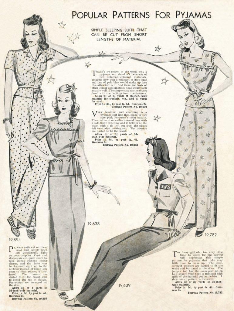 1940s pyjamas
