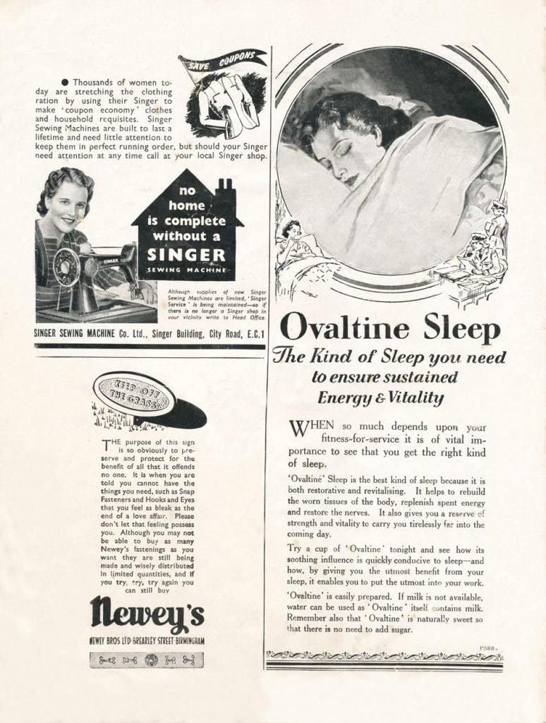 1940s Ovaltine ad