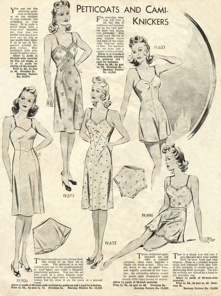 1940s petticoats and camiknickers