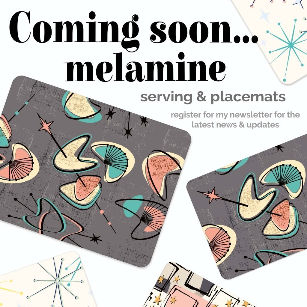 retro place mats and serving mats