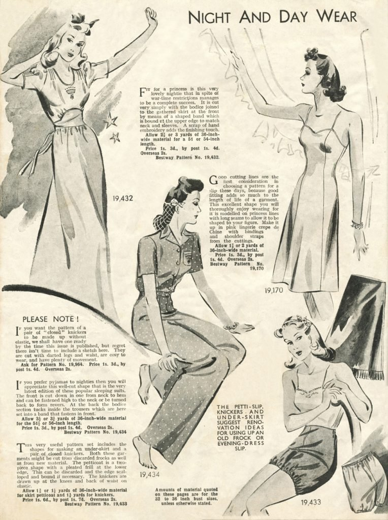 1940s night and daywear