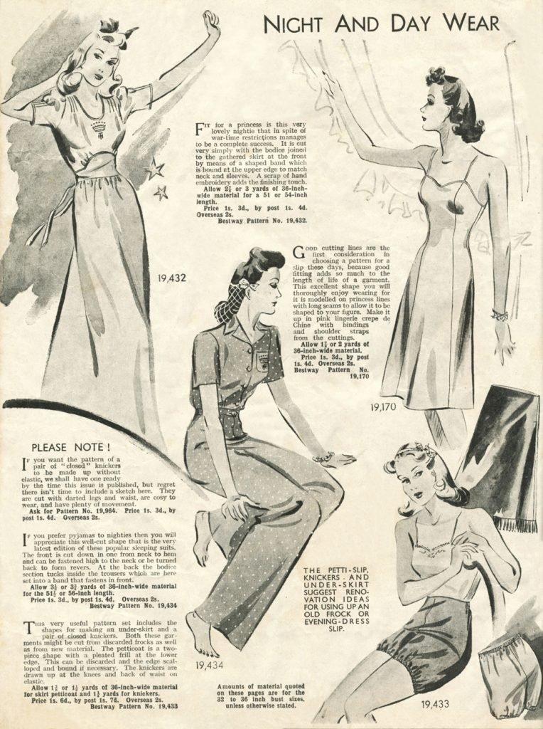 1940s night and daywear