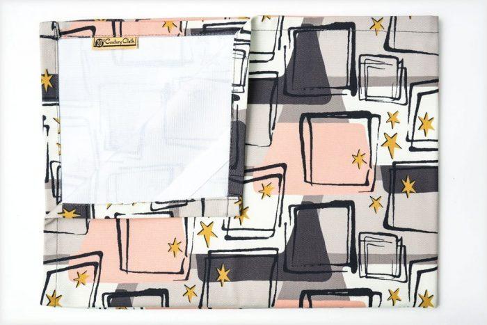 1950's retro atomic tea towel