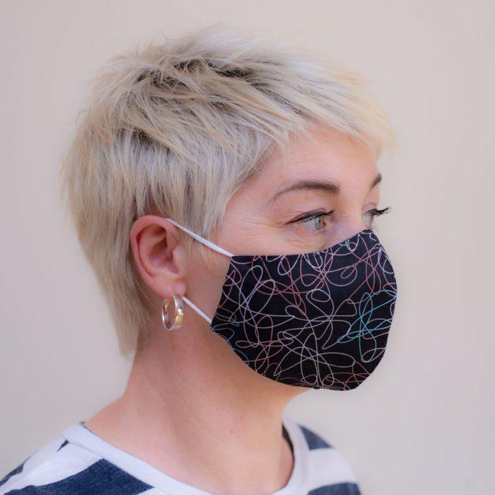 retro vintage face mask