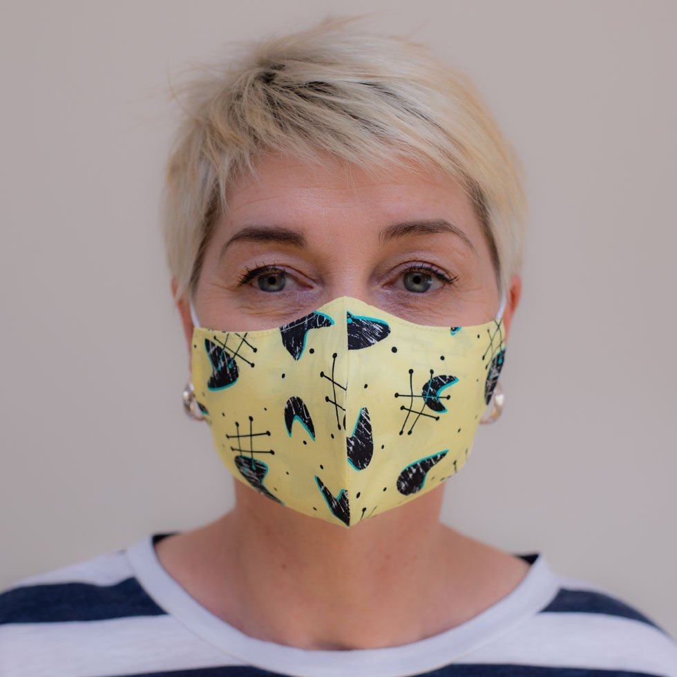 retro vintage face mask