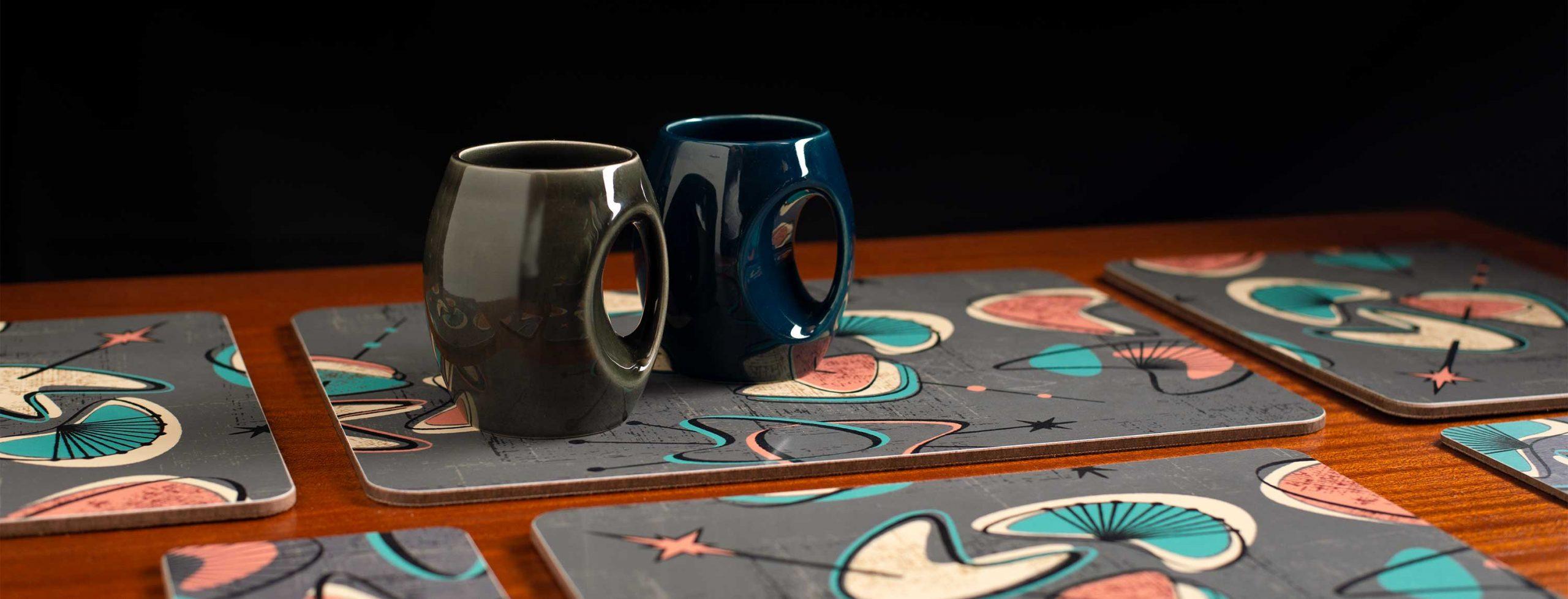 mid century modern tableware