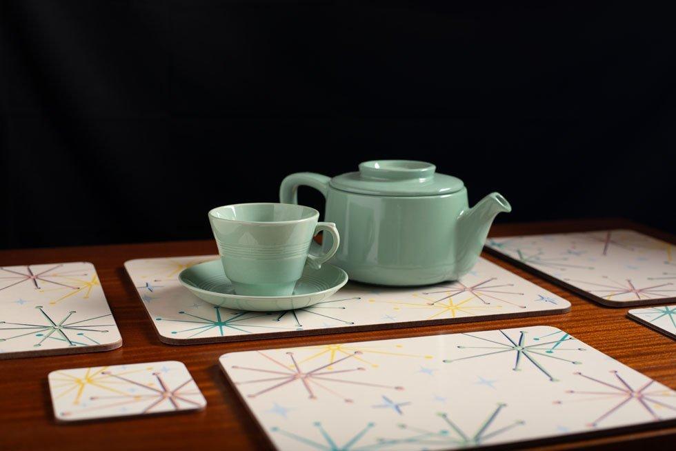 midcentury modern tableware