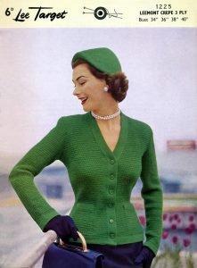 Free knitting pattern 1950s ladies jacket