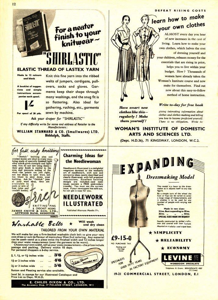 vintage sewing ads