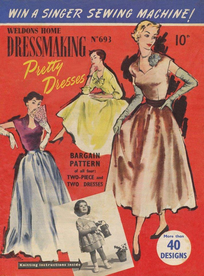 1950s dress illustrations