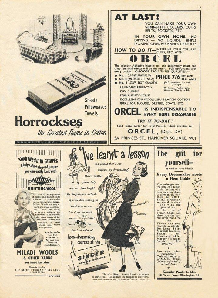 Retro 50s ads