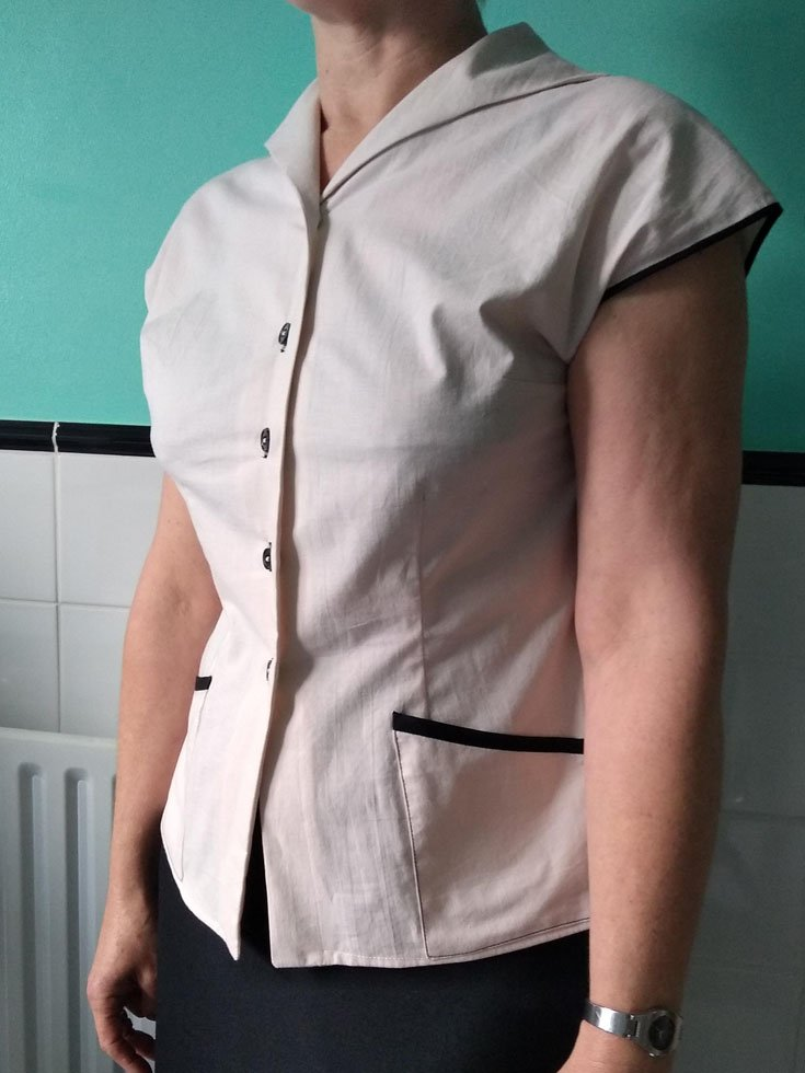 enlarging a fitted blouse
