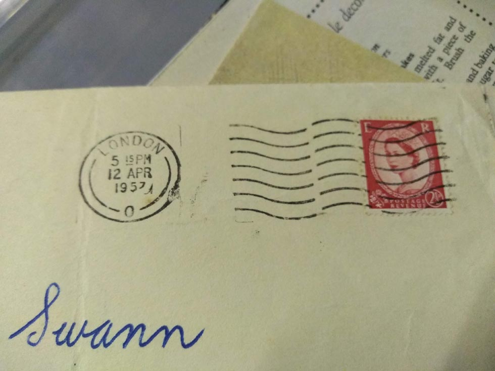 1950s postmark